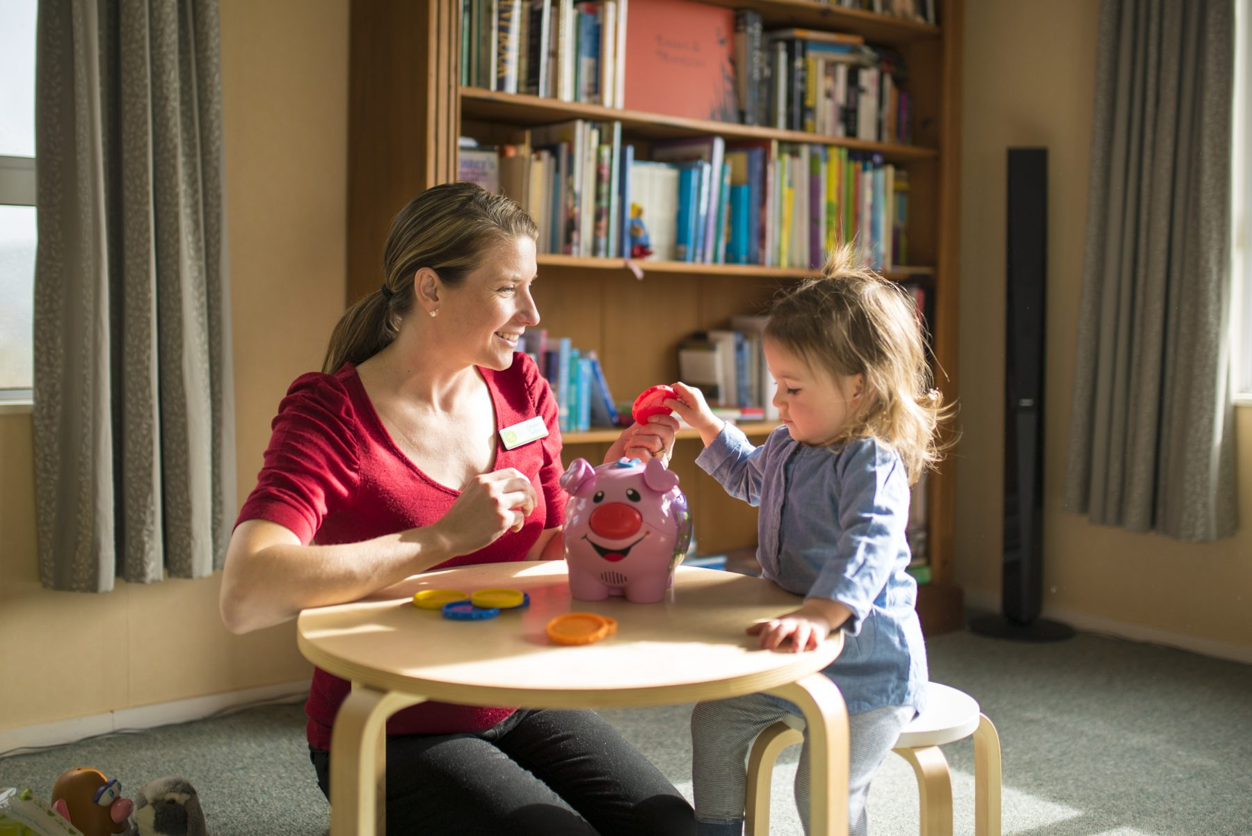 Speech & Language Therapist with a child